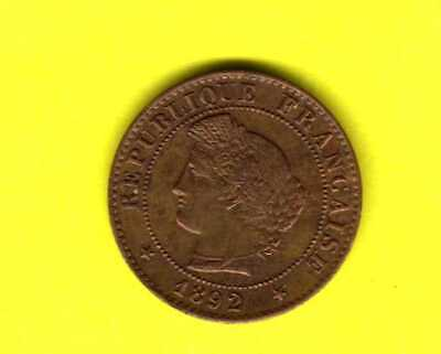 N°9)   - 1 Centime - CERES - 1892 A   - SUP/FDC - -