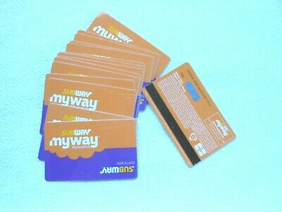 Lot of 15 Subway myway rewards Gift Cards; new, no value inside, rechargeable