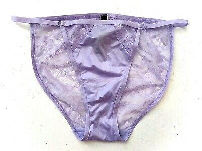 Victorias Secret Nwt Very Sexy Purple Ring Lace Cut Out String Bikini Panty XS S