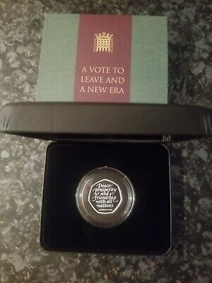 Brexit 50p Coin Brand New Solid Silver Proof