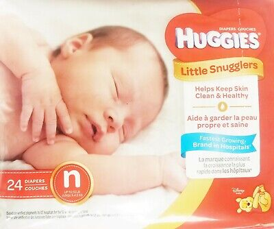 Huggies 52238 Newborn up to 10lbs Umbilical Cut-Out QTY 48 Diapers