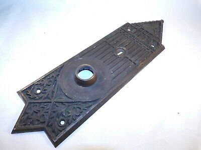 Antique Cast Bronze Ornate Door Knob Escutcheon Building Architectural Hardware