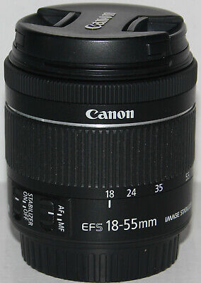 Canon EF-S 18-55mm f/4-5.6 IS STM lens in pristine condition