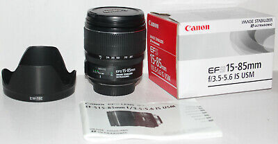Canon EF-S 15-85mm f/3.5-5.6 IS USM in excellent condition (boxed + hood)