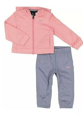 Nike Girls Pink & Grey Tracksuit Set Aged 12-18 Months BNWT