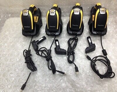 Lot Of 4 Datalogic Powerscan Pbt9500 Barcode Scanner