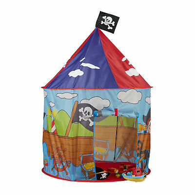 Pop Up Play Tent for Boy, Pirate Teepee with Flag, Playhouse
