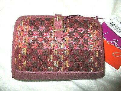 Vera Bradley Tweed MWT Mini Notebook Organizer Note Book Wallet