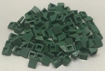 LEGO New Lot of 4 Sand Green 1x1x2//3 Mini Roof Slope Pieces