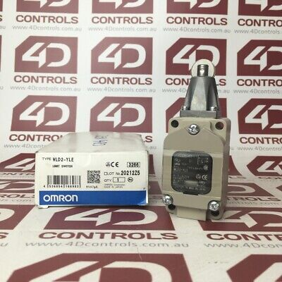 WLD2-YLE   Omron   Limit Switch Long HingeRoller Moary - New Surplus Open