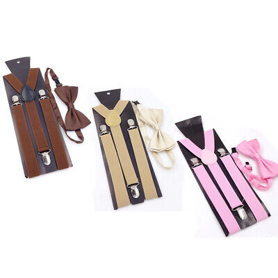 Matching Braces Suspenders and Bow Tie Set Kids Adult Children Boys Wedding #yin