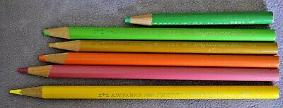 Vintage AW Faber Castell Polychromos Colored Pencils Lot 6 Germany 9201