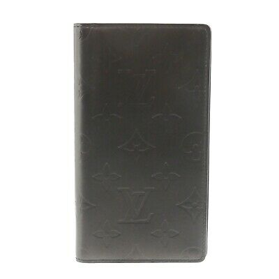Auth LOUIS VUITTON Agenda Posh Mat Day Planner Cover Gray Leather R20900 #f01660