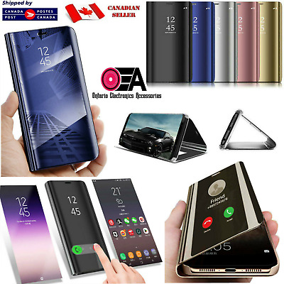 Smart Mirror Clear Luxury Flip Case Cover Samsung Galaxy Note 8 9 10 S8 S9 Plus