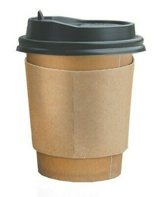 Double Wall Paper CUPS With Lids Stirrers 20oz, 100Pcs Recyclable Paper