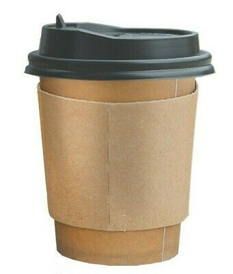 Double Wall Paper CUPS With Lids Stirrers 16oz, 100Pcs Recyclable Paper