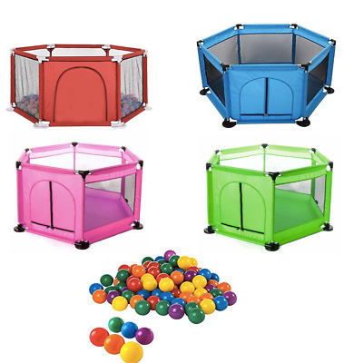 New Baby Playpen 6 Sides with Round Zipper Door Play Pen for Toddlers