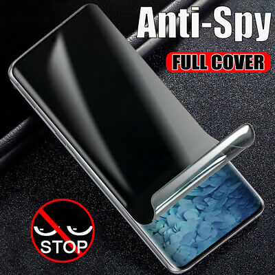 For Samsung Galaxy S20 Ultra Plus Privacy Screen Protector Soft Hydrogel Film