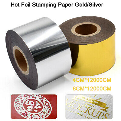 Roll Hot Foil Stamping Paper Gold Silver For PU Leather PVC DIY Bronzing Machine