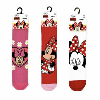 3 girls socks minnie Mouse Official Cartoon Novelty Character Socks 6-3½ gift