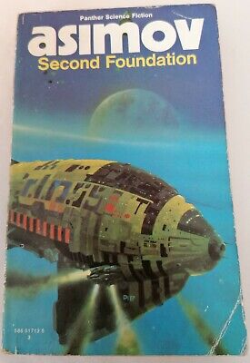 BOOK - Vintage Isaac Asimov SF Fantasy Paperback Second Foundation Panther 1974