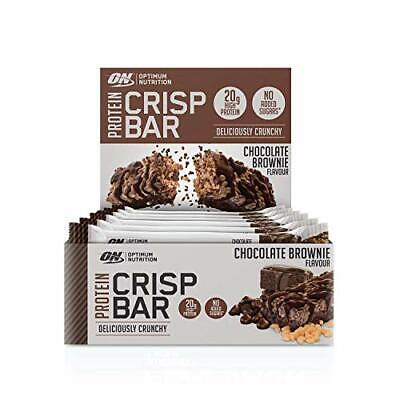 Optimum Nutrition Protein Crisp Bar with Whey Isolate, Low Carb High...