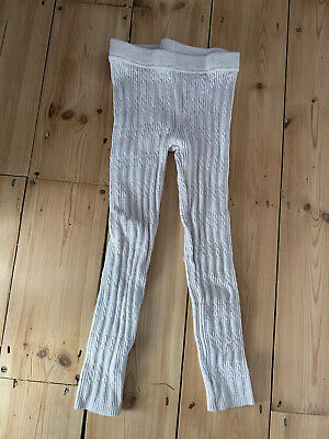 Girls winter tights 5-6 cable knit