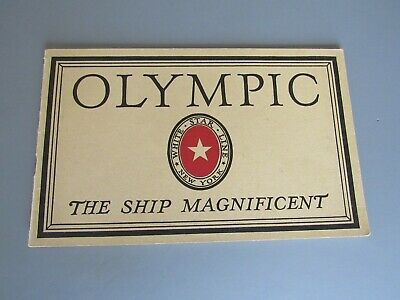 """RMS """"OLYMPIC""""- EXTREMELY RARE ORIGINAL INTERIORS BROCHURE- SUPERB! c1920s"""