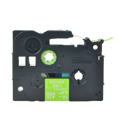 1PK TZ-MQG35 TZe-MQG35 for Brother PTouch White on Lime Green Label Tape 12mm