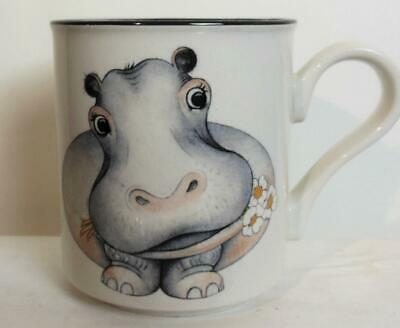 Vintage Arthur Wood  Hippopotamus Hippo Mug Front and Back Made in England