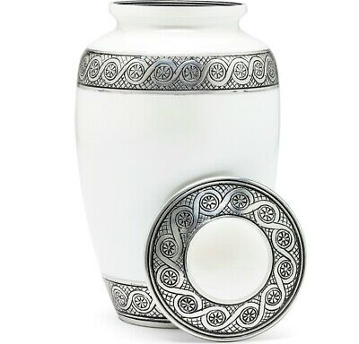 Cremation Urn for Human Ashes   Funeral Urn for Adults Remains Velvet Bag- Pearl