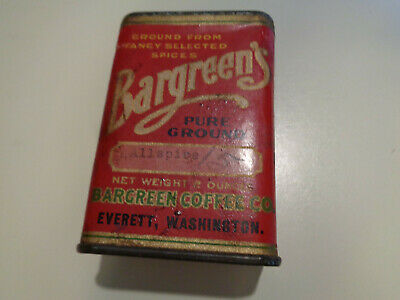 BARGREEN'S ALLSPICE Tin Everett Washington
