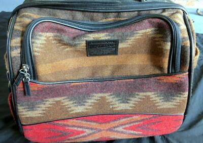 PENDLETON ROLLING SUITCASE BAG CARRY ON Travel 16 Southwestern Wool Brown handle