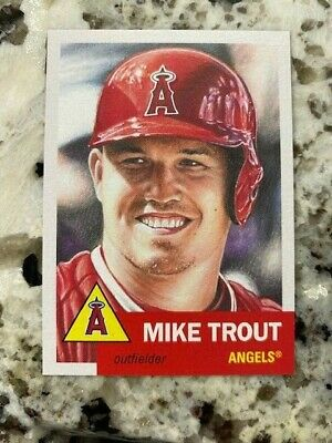 Topps Baseball Living Set Card Angels Mike Trout #200 Pr 22017