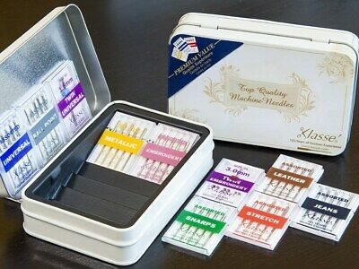 Klasse Value Pack Tin with 42 Assorted Sewing Machine Needles