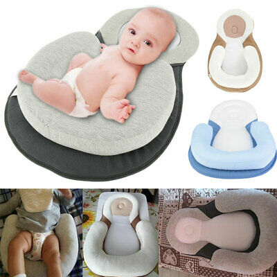 Newborn Baby Anti-Roll Head Cushion Pillow Prevent Flat Sleep Nest Pod 2 Colors.