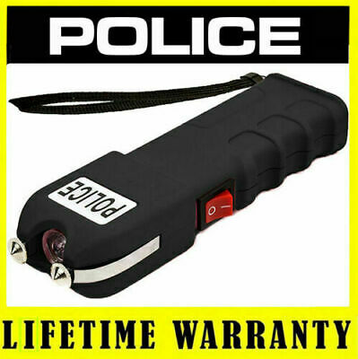 POLICE Stun Gun 916-58 Billion Rechargeable with Safety Disable Pin LED Flashlig