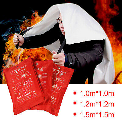 Home, Office 1-1.5m Safety Large Fire Blanket for Emergency Extinguishing Escape