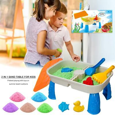 Sand Table Game Kids Garden Pretend Sand Water Beach Sandbox Toys With Cover