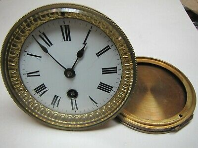A French Timepiece Clock Movement with Back