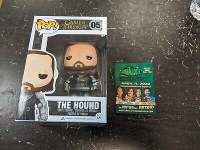 Funko Pop! Game of Thrones GOT The Hound #05 Vaulted AUTHENTIC Free ship protec