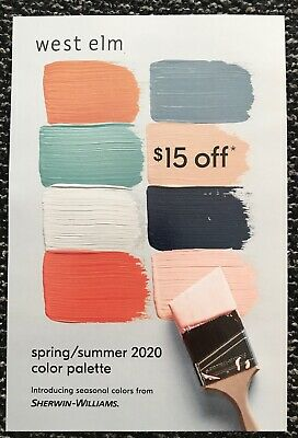 Sherwin Williams Paint Coupon $15 off a Purchase of $75 or More Expires 6/30/20