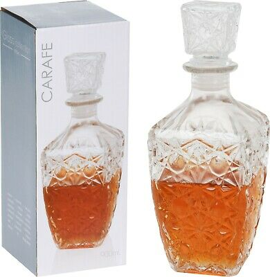 Glass Decanter Whiskey Sherry Brandy Liqueur Decanter Tapered Wine Decanter