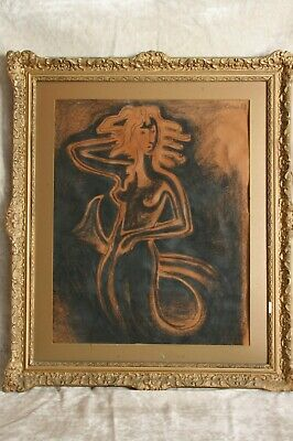 Sirena. Carboncillo sobre papel. Paul Klose. Siren. Charcoal on paper