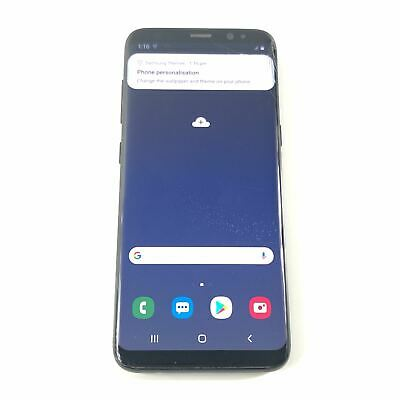 Samsung Galaxy S8 SM-G950W 64 GB Unlocked Black Android Smartphone Read