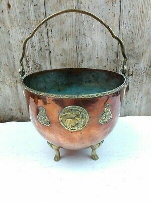 Old Brass/Copper Arabic? Persian? Middle East? Islamic? Planter or Cauldron