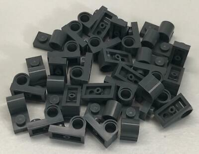 Modified 1 x 2 with Pin Hole on Top Lego 2x 11458 Dark Bluish Gray Plate