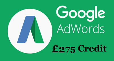 £275 Adwords Google Ads Credit Threshold Account for Advertising