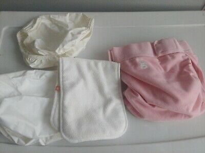 GDIAPERS LARGE GREAT pink GPANTS & 3 POUCH 1 insert small lot
