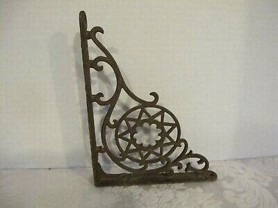 "1 Vtg./Ant. SHELF BRACKET CAST IRON ANTIQUE SALVAGE ORNATE 6 34"" x 8 3/4"